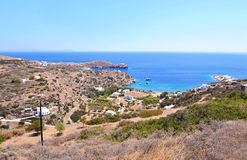 Sifnos island landscape Greece stock photo
