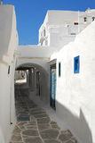 Sifnos-Cyglades-Greece. Narrow paved inside the castle Royalty Free Stock Images