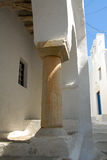 Sifnos-Cyglades-Greece. Narrow steps slated to inside the castle Royalty Free Stock Photography