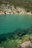 Sifnos. Small beach Glipho clear waters with extremely Royalty Free Stock Photos
