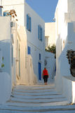 Sifnos. Walking the alleys of Apollonia Stock Images
