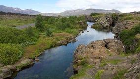 Sifra Caves from Thingvellir National Park Iceland stock photo