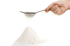 Sifted flour Stock Image