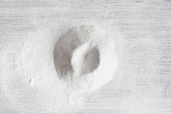 Free Sifted Flour On The Wooden Table Royalty Free Stock Photography - 89273457