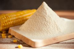 Sifted maize flour Stock Photo