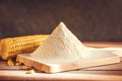 Sifted maize flour Royalty Free Stock Photo