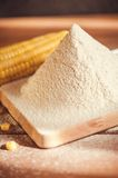 Sifted maize flour Royalty Free Stock Image