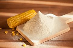 Sifted maize flour Stock Images