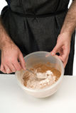 Sifting Ingredients Royalty Free Stock Photo