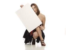 κενό λευκό εκμετάλλευ&sig Στοκ εικόνες με δικαίωμα ελεύθερης χρήσης