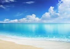 παραλία Καραϊβικές Θάλασ&sig Στοκ Εικόνα