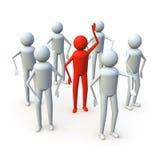 ο τρισδιάστατος άνθρωπο&sig Στοκ εικόνες με δικαίωμα ελεύθερης χρήσης