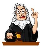 ο δικαστής κάνει την απόφα&sig Στοκ εικόνα με δικαίωμα ελεύθερης χρήσης