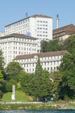 SIG Buildings i Neuhausen f.m. Rheinfall Arkivfoton