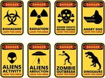 Sig do perigo Imagens de Stock
