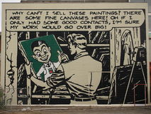 Sig. Four Square Mural Fotografia Stock Libera da Diritti