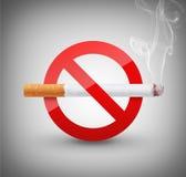Sig não fumadores Foto de Stock Royalty Free