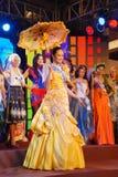 Sig.na Filippine che portano costume nazionale Fotografia Stock Libera da Diritti