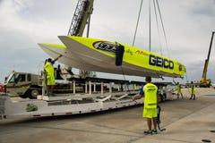 Sig.na Geico Superboat Fotografia Stock