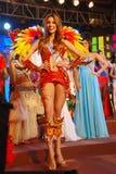Sig.na Panama che porta costume nazionale Fotografia Stock Libera da Diritti
