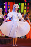 Sig.na Slovenia con il costume nazionale Immagini Stock