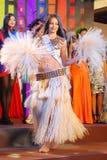 Sig.na Tahiti che porta costume nazionale Immagine Stock