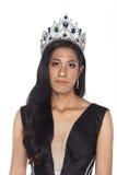 Sig.na Transgender Pageant Contest nella palla lunga dell'abito di palla di sera Fotografie Stock