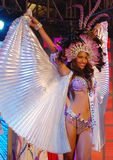 Sig.na Trinità e Tobago che portano costume nazionale Fotografie Stock