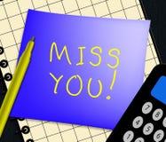 Sig.na You Displays Love ed illustrazione desiderante 3d Fotografia Stock