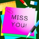 Sig.na You Represents Love ed illustrazione desiderante 3d Immagini Stock