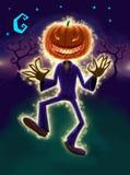 Sig. Pittura di Digital Halloween della zucca Fotografie Stock Libere da Diritti