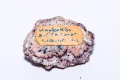 Sig preziosi minerali di colore di Kuferkies della pietra preziosa del gioiello variopinto della gemma Immagini Stock Libere da Diritti
