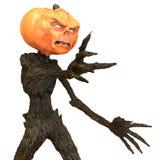 Sig. Pumpkin isolato su fondo bianco illustrazione 3D illustrazione vettoriale