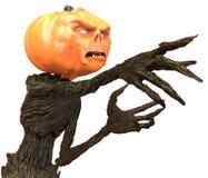 Sig. Pumpkin isolato su fondo bianco illustrazione 3D illustrazione di stock