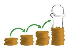 Sig. Punti semplici di crescita di successo Immagine Stock