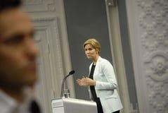 Sig.ra Helle Thonring-Schmidt PM danese Fotografia Stock Libera da Diritti