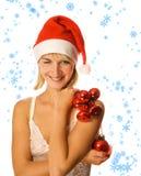 Sig.ra Santa con la decorazione Fotografie Stock