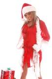 Sig.ra sexy il Babbo Natale fotografia stock libera da diritti