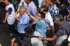 Sig. Sutep, capo della dimostrazione antigovernativa in Tailandia Immagine Stock Libera da Diritti