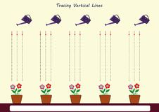 Siga as linhas com seu lápis Imagens de Stock
