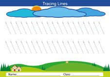 Siga as linhas com seu lápis Imagem de Stock