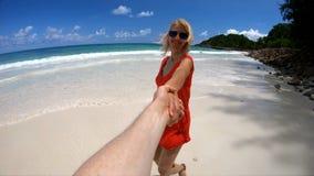 Siga el amor en Seychelles almacen de metraje de vídeo