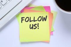 Siga-nos busine social dos trabalhos em rede dos gostos dos fãs dos seguidores do seguidor imagem de stock royalty free