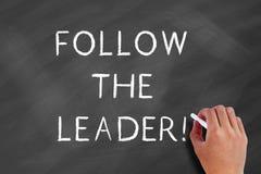 Siga o líder imagens de stock royalty free