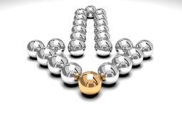 Siga o líder Imagem de Stock Royalty Free