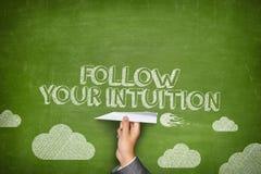 Siga seu conceito da intuição Imagens de Stock Royalty Free