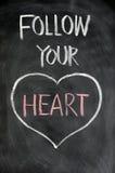 Siga seu coração imagens de stock royalty free