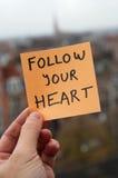 Siga su corazón Fotos de archivo
