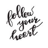 Siga su corazón Foto de archivo libre de regalías