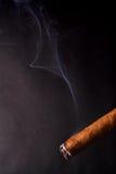 Sigaar en rook Royalty-vrije Stock Afbeeldingen